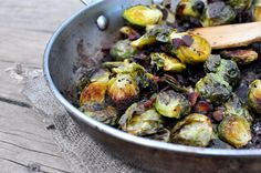 Roasted Bacon Balsamic Brussels Sprouts