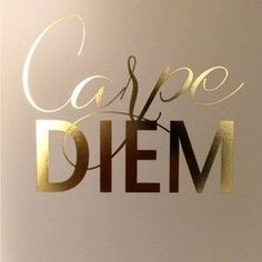 Carpe Diem - Seize the Day Gold Foil Print by JordanKatelin on Etsy Me Quotes, Motivational Quotes, Inspirational Quotes, Gold Quotes, Qoutes, Hustle Quotes, Framed Quotes, Dream Quotes, Queen Quotes