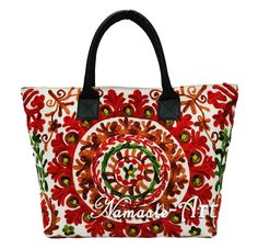 Indian Cotton Suzani Tote Shoulder Embroidery & Handbag Woman Beach Boho Bag 003 #Unbranded #TotesShoppers
