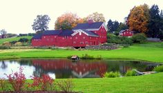 Serendipity Farm  ~ Rhinebeck, NY - look at the cute house in the water!!