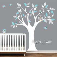 Decalcomania di albero bambini adesivi murali in vinile con
