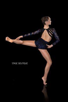 DANCE COSTUME - EXCEPTION, $69, Royal Blue and Black Sequin Unitard, Stage Boutique, www.stageboutique.com