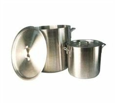 """Winco ALHP-160 Precision Stock Pot, 160 Quart without Cover by Winco. $115.08. Precision Stock Pot, 160 quart without cover, standard heavy weight 1/4"""" (6 millimeter) aluminum, reinforced rim, NSF,"""