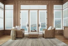 Need some inspiration for your living room windows? Check out the Gotcha Covered idea gallery for ideas on custom blinds, shades, and more. Door Window Treatments, Window Treatments Living Room, Living Room Windows, Window Coverings, Living Rooms, Living Area, Classic Shutters, Interior Shutters, Window Shutters