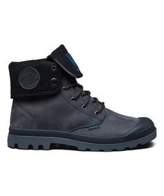 This Anthracite & Turbulence Baggy Leather Boot - Men is perfect! #zulilyfinds