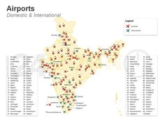 Airports of India - Transportation Networks in India Map