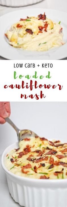 Low Carb Loaded Cauliflower Mash   Personally Paleo