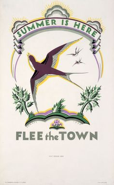 Summer Is Here ~ Flee the Town by Irene Fawkes (1926)
