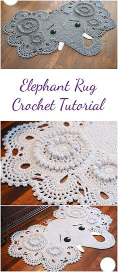 Elephant rug - Amazing pattern, amazing tutorial !