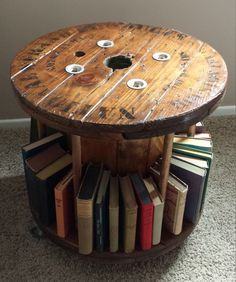 1000 images about large wooden spools on pinterest for Large wooden spools used for tables