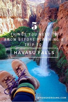 AZ- Are you getting ready to hike to the most spectacular falls in Arizona? Here's some important information you need to know before planning a trip to Supai - regarding lodging, transportation, rules, regulations, camp essentials and more. Havasupai Arizona, Havasupai Falls, Havasu Creek Arizona, Havasu Falls Hike, Arches Nationalpark, Yellowstone Nationalpark, Dry Tortugas, Places To Travel, Places To Go