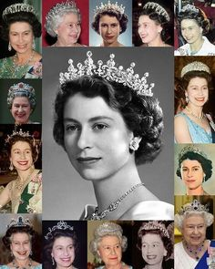 Royal Tiaras Part Tiaras The Queen wears (swipe left). It was made in 1919 for Queen Mary out of diamonds from a tiara Queen Victoria purchased in The Queen Mum later lent it to Princess Elizabeth on her wedding day (al Royal Crowns, Royal Tiaras, Tiaras And Crowns, English Royal Family, British Royal Families, Princess Elizabeth, Queen Elizabeth Ii, Queen Mary, King Queen