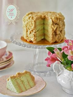 NO-BAKE COMBO CAKE (CHEESE AND CHOCOLATE MOUSSE) Pandan Gula Melaka Layer Cake