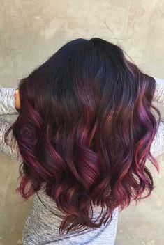 96 Awesome Burgundy Hair Color Ideas In Burgundy Hair Highlights for Dark Brown Hair, 60 Dark Red Hair Ideas, 50 Shades Of Burgundy Hair Color Dark Maroon Red Wine, 43 Burgundy Hair Color Ideas and Styles for Burgundy Balayage, Balayage Hair, Burgundy Highlights, Short Balayage, Burgundy Color, Burgundy Hair Ombre, Red Purple Hair, Balayage Color, Bayalage Black Hair