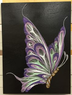 Butterfly String Art by StringTheoryVan on Etsy https://www.etsy.com/ca/listing/384469966/butterfly-string-art