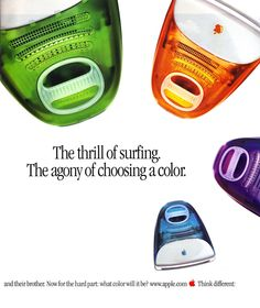 30 Ads You Haven't Seen In Forever - Apple We had the blue ones in our classrooms, lol.