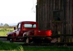 Love old trucks and barns