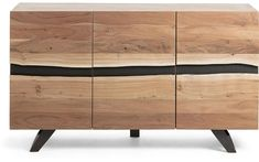 Dressoir Uxia is een unieke schoonheid. Zo bestaat deze kast uit prachtig acaciahout waardoor er direct een warme sfeer ontstaat. De metalen rand voegt hier een stoere twist aan toe en sluit overigens volledig aan bij het industriële onderstel. Achter de drie bijzondere deuren verschuilt zich daarnaast voldoende opbergruimte. Hier is plek om al jouw dagelijkse benodigdheden snel en eenvoudig op te bergen. Divider, Cabinet, Living Room, Storage, Metal, House, Furniture, Home Decor, Album