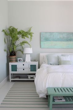 House of Turquoise: Molly Frey Design - love the weathered blue boards - Daily Home Decorations Bedroom Turquoise, House Of Turquoise, Aqua Rooms, Coastal Bedrooms, Teen Bedrooms, Attic Bedrooms, Guest Bedrooms, Guest Room, Small Bedroom Designs