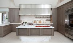 greige: interior design ideas and inspiration for the transitional home : Gray in the Kitchen