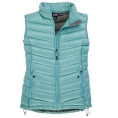 b210083292d6 EMS Womens Icarus Down Vest - Aqua Haze Ultralight Backpacking, Sports  Shops, Down Vest