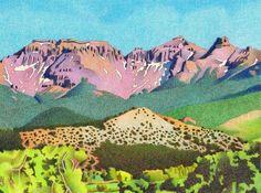 Impression Evergreen: Sneffels Range Summer - Colored Pencil Drawing