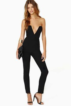 Nasty Gal Midnight Run Jumpsuit.. love this!! wish they had it in my size....