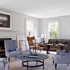 Living Room:Calvin Klein Collection's Francisco Costa's Long Island home