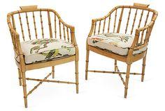 Vintage Faux-Bamboo Bird Chairs, Pair on OneKingsLane.com