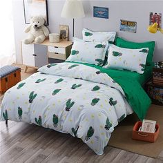 Cactus Reversible 4 piece Bedding set