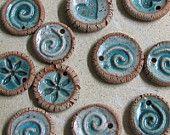 Ceramic Pendant or Ornament or Essential Oil Diffuser - set of three