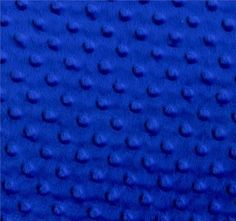 """Royal Blue Silky Soft and Cuddly Minky Dimple Dot Fur Fabric Stretch 60"""" BTY #Fabric"""