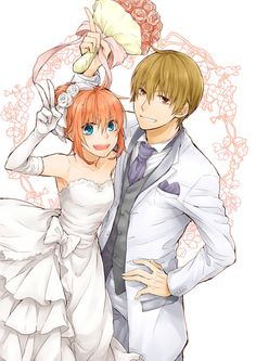 Anime: Gintama Personagens: Okita Sougo e Kagura Anime Love Couple, Cute Anime Couples, Anime Girlfriend, Sailor Moon Background, Anime Wedding, Gekkan Shoujo, Disney, Okikagu, Anime Ships