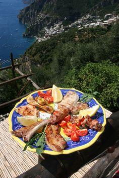 Positano typical restaurant, genuine food, typical food in Positano - Montepertuso on Amalfi Caost - La Tagliata