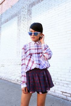 all over plaid ensemble {fall style}