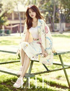 A Pink's Son Na Eun Transforms into a Spring Goddess in Elle Pictorial