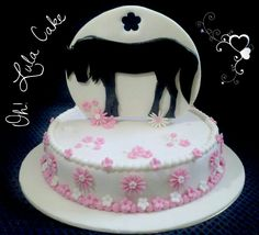 Tarta caballo. horse cake