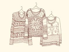Post image for Our Favorite Holiday Sweaters – Illustrated!