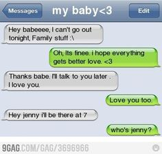 I think we've all done this.. ok, not the cheating part, but the texted wrong person part.. hahahahahahaha
