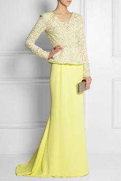 J Mendel Soleil silk-crepe maxi skirt
