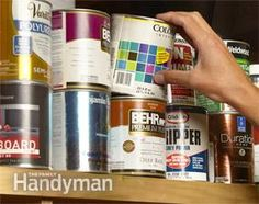 Hiding Places-there are always paint cans around. Which one did I hide things in???