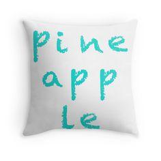 Pineapple - Throw Pillow Cover - http://annumar.com/en/designs/pineapple-throw-pillow-cover
