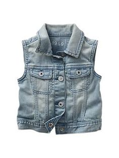 Denim vest. GAP. $26.95. Toddler sizes. Watch for clearance in a couple of months!