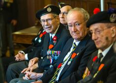 Ceremony for French Legion of Honour recipients from WWII.