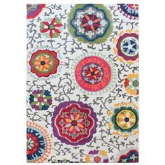 Debenhams Multi Coloured Light Patchwork Colores Rug At