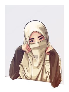 58 Best Hijab Vector Images On Pinterest Muslim Women Face Veil