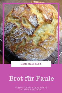 Homebaked bread for Lazy - Brot-Brötchen backen recipes bread Pizza Recipes, Brunch Recipes, Bread Recipes, Cake Recipes, Snack Recipes, Snacks, Pampered Chef, Food Cakes, No Knead Bread