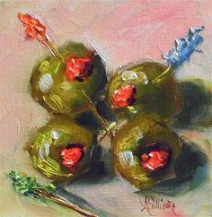 """Party Ready olive still life p..."" by Angela Sullivan"