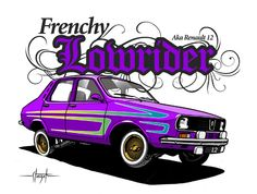 Renault 12 Lowrider by Fabrice Staszak, via Behance