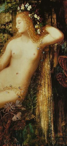"""Detail from """"Galatea"""" by Gustave Moreauc. 1880"""